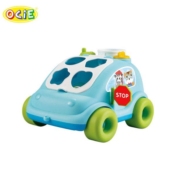 Ocie Детска кола сортер за дърпане Bear bus синя 0904492