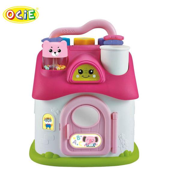 Ocie Детска къща сортер Abero house розова 0641809