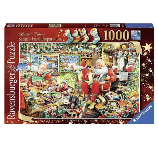 Ravensburger Пъзел Подготовката на Дядо Коледа  1000 части 19558