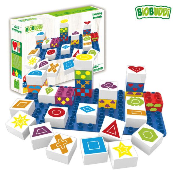 BiOBUDDi Детски строител Био Бъди Кубчета с геометрични фикури BB0004