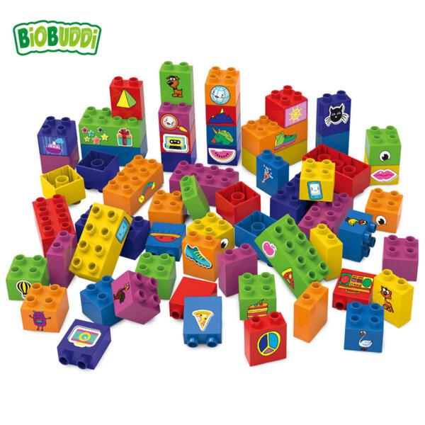 BiOBUDDi Детски строител Био Бъди Образователни кубчета 40бр. BB0011
