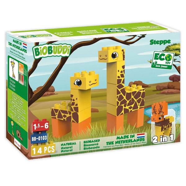 BiOBUDDi Детски строител Био Бъди 2в1 Жирафи и лос BB0103