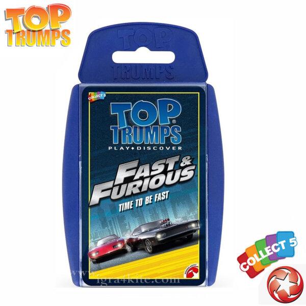 Top Trumps Игра с карти Бързи и яростни WM01496