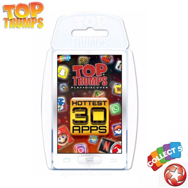 Top Trumps Игра с карти Най-горещите 30 приложения WM02073