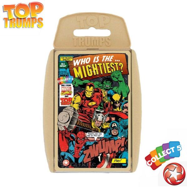 Top Trumps Игра с карти Marvel Комикс герои Ретро WM22033