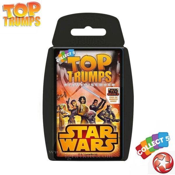 Top Trumps Игра с карти Star Wars Rebels WM22699