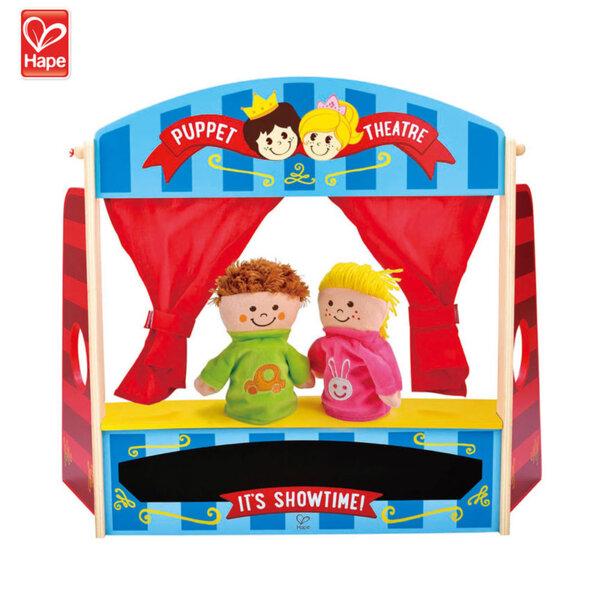 Hape Дървен куклен театър H1044