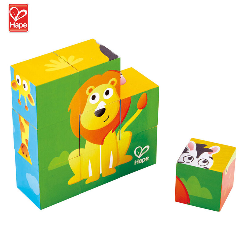 Hape Детски дървени кубчета Джунгла H1619