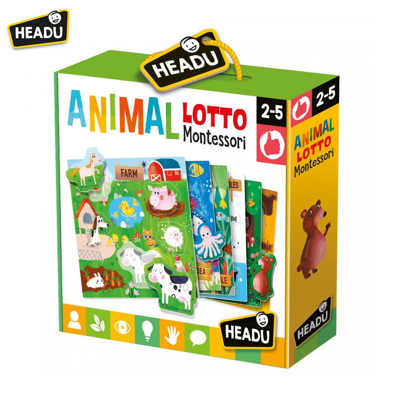 Headu Детска игра Лото животни HMU22847