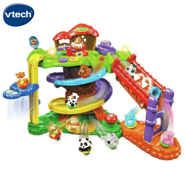 Vtech ZoomiZooz Музикален център Къща на дърво с 3 животни V510903
