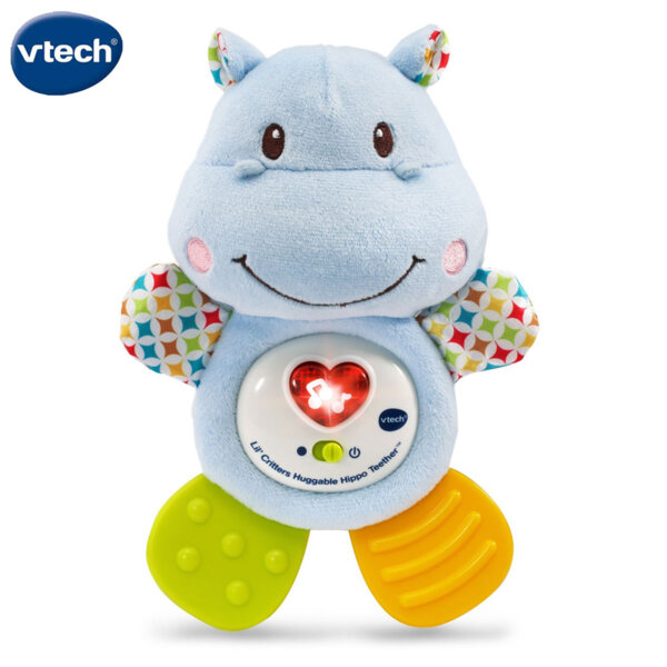 Vtech Плюшен музикален хипопотам с чесалки V502503