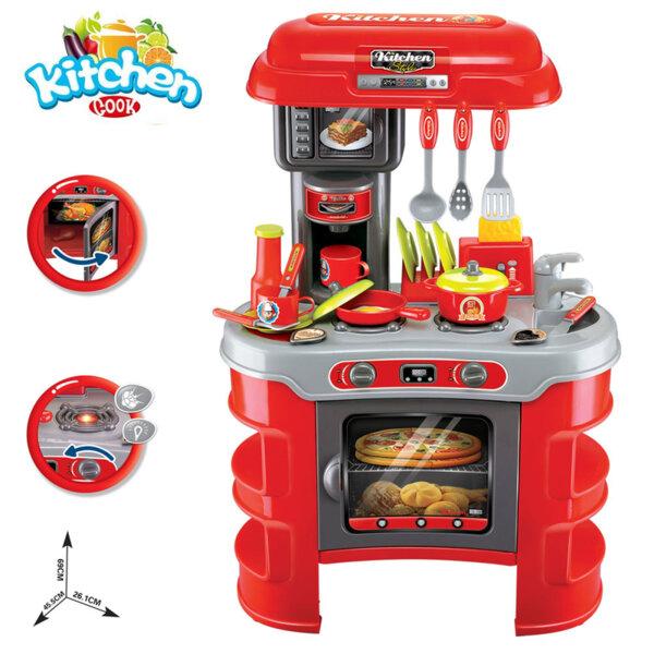 Buba Детска кухня Kitchen Cook червена 008-908A