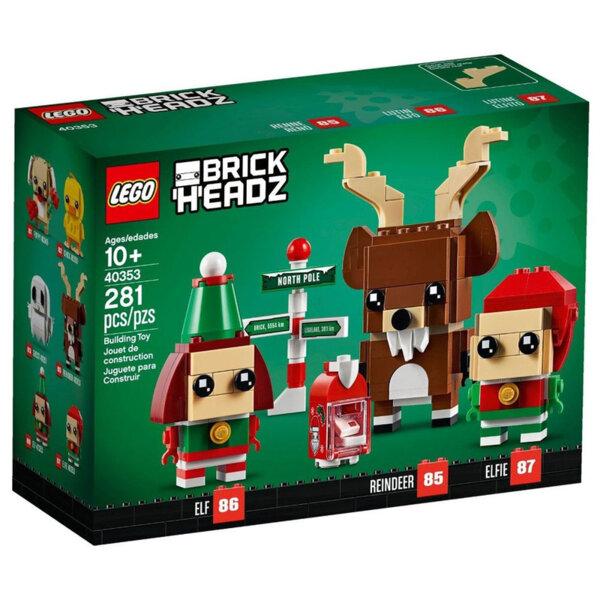 Lego 40353 BrickHeadz Коледен елен и елфи