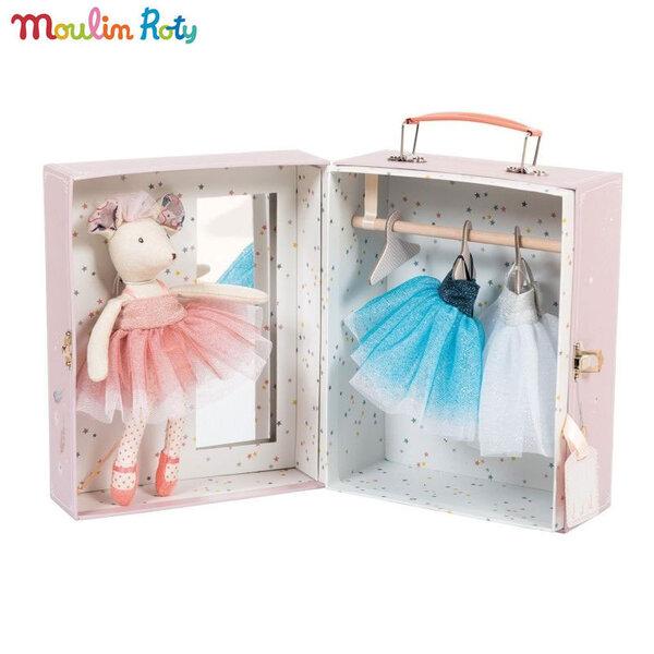 Moulin Roty Мека кукла балерина мишле в куфар с тоалети 711331