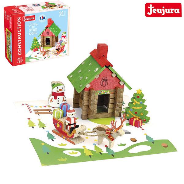 Jeujura Дървен конструктор Къщата на Дядо Коледа J8228