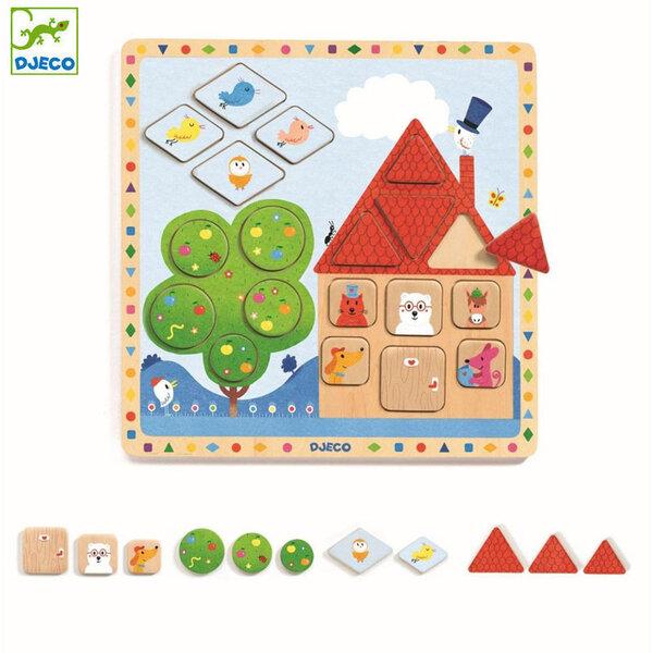 Djeco Детски образователен пъзел от дърво Ludigeo DJ01803
