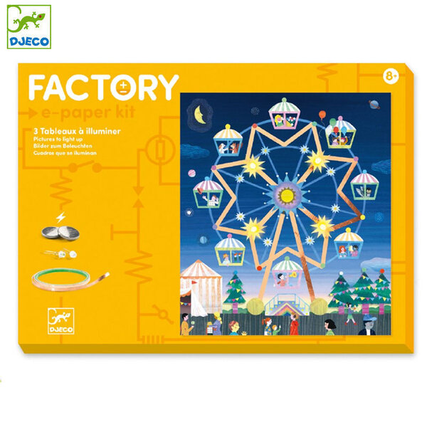 Djeco Factory Направи картини с електричество Way Up High DJ09311