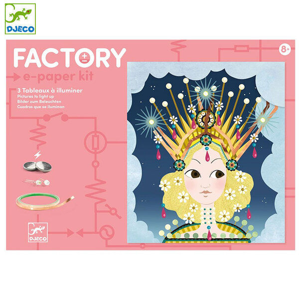 Djeco Factory Направи картини с електричество Tiaras DJ09312