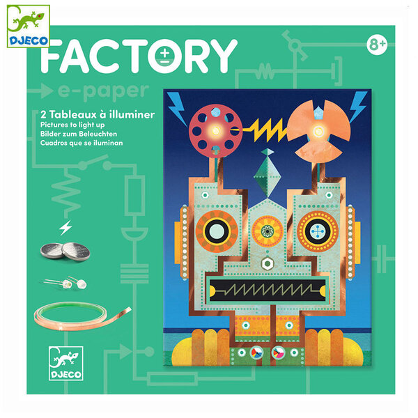 Djeco Factory Направи картини с електричество Cyborgs DJ09313