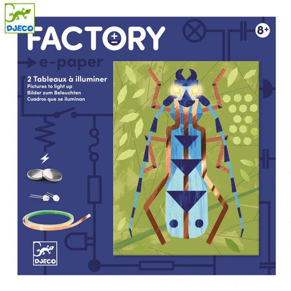 Djeco Factory Направи картини с електричество Insectarium DJ09315