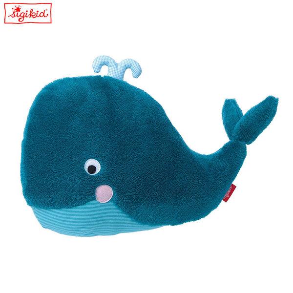 Sigikid Плюшена играчка възглавничка кит 40см 39072