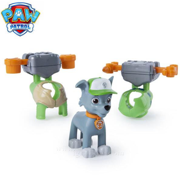 Paw Patrol Кученцето Rpcky с два броя екипировка 6022626