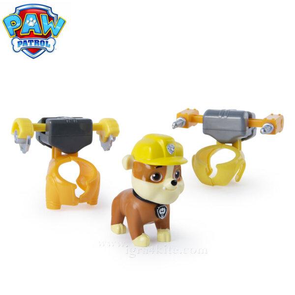 Paw Patrol Кученцето Rubble с два броя екипировка 6022626