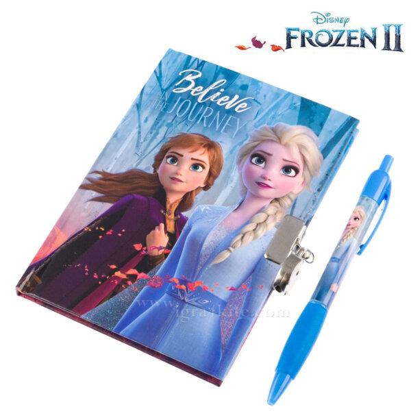 Disney Frozen 2 Таен дневник с химикалка и катинарче Замръзналото кралство 2 105613