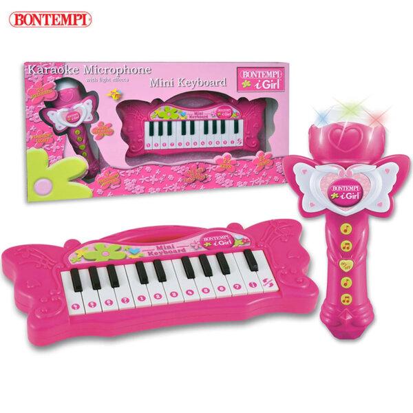 Bontempi Детски електронен синтезатор с микрофон 191321