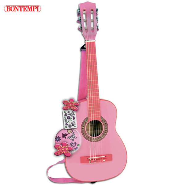 Bontempi Дървена китара с 6 струни 193093
