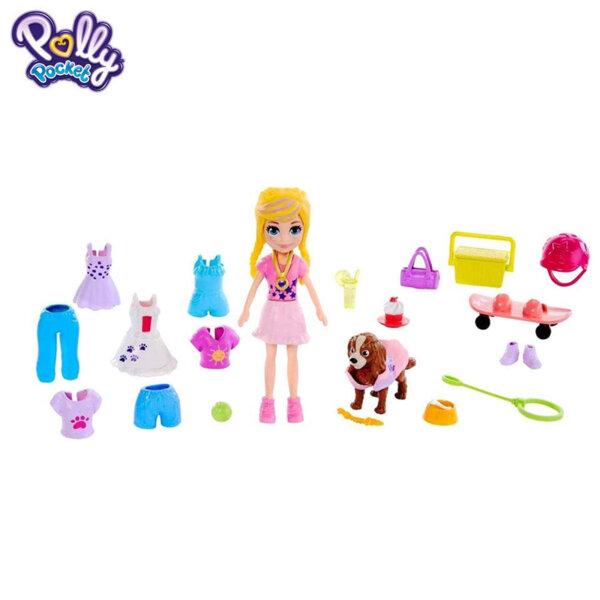 Polly Pocket Комплект за игра Разходка с куче GBF85