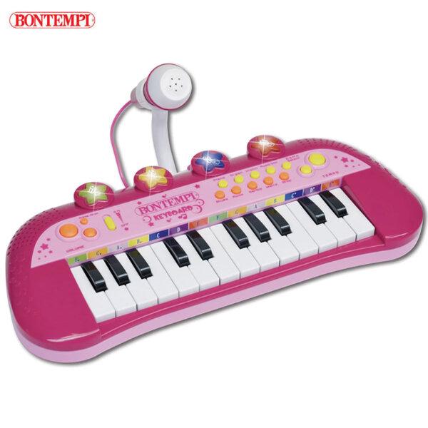 Bontempi Електронен синтезатор с 24 клавиша и микрофон 193107