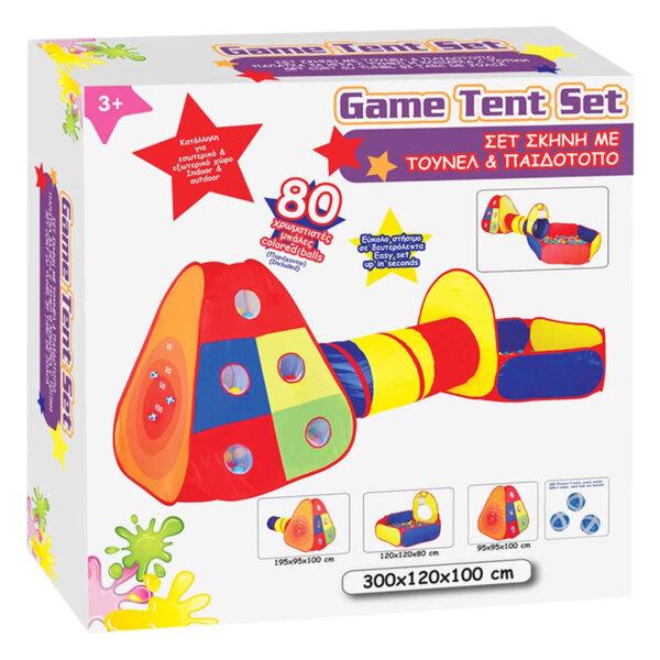 iPlay Палатка с тунел и детска площадка 15382