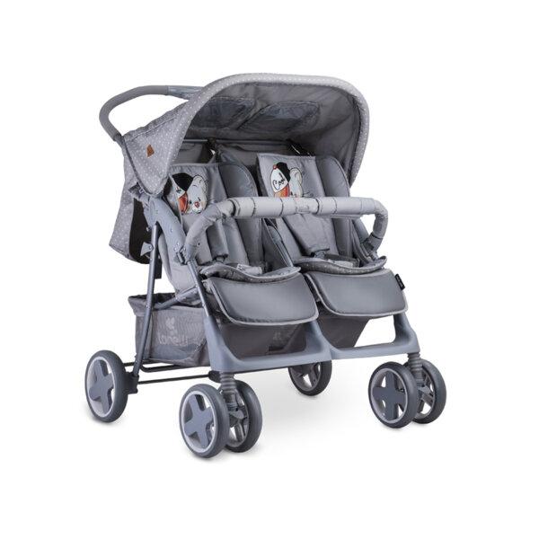 Lorelli Детска количка TWIN GREY COOL CAT 10020071939