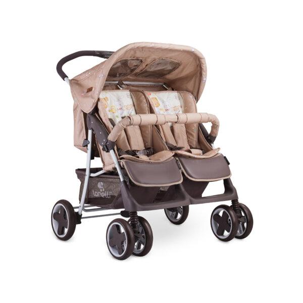 Lorelli Детска количка TWIN BEIGE BEAR PARTY 10020071954