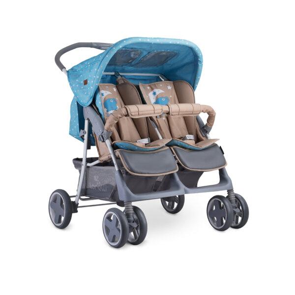 Lorelli Детска количка TWIN BLUE&BEIGE MOON BEAR 10020071955
