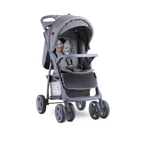 Lorelli Детска количка с покривало FOXY GREY COOL CAT 10020521939A