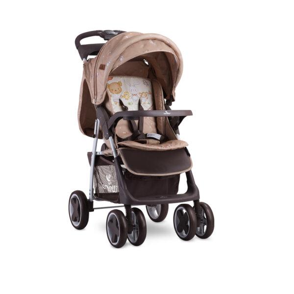 Lorelli детска количка с покривало FOXYBEIGE BEAR PARTY 10020521954A