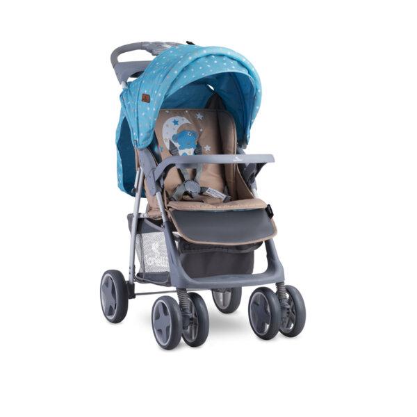 Lorelli Детска количка с покривало  BLUE&BEIGE MOON BEAR  10020521955A