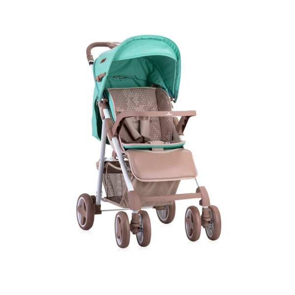 Lorelli Детска количка AERO SET BEIGE&GREEN DOTS 10020711984