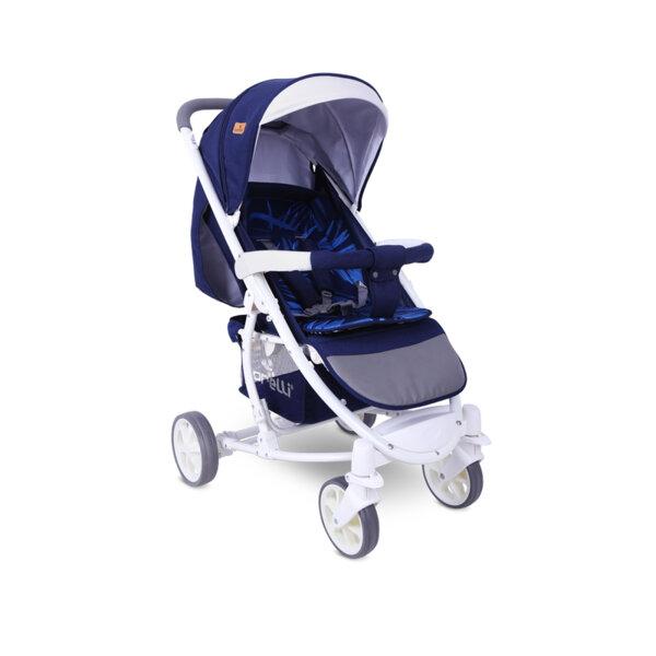 Lorelli Детска количка S-300 DARK BLUE FLOWERS 10020841959