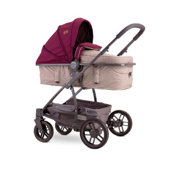Lorelli Детска количка S-500 BEIGE&RED DOTS 10020931964