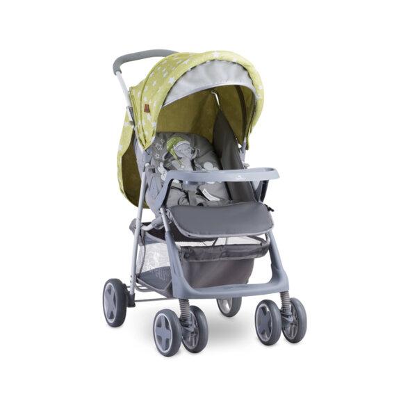 Lorelli Детска количка с покривало TERRA GREEN&GREY ELEPHANT 10020961937A