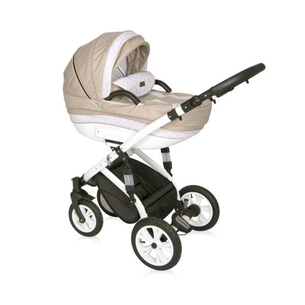 Lorelli Детска количка MIA LIGHT&DARK BEIGE 3в1 10021011912