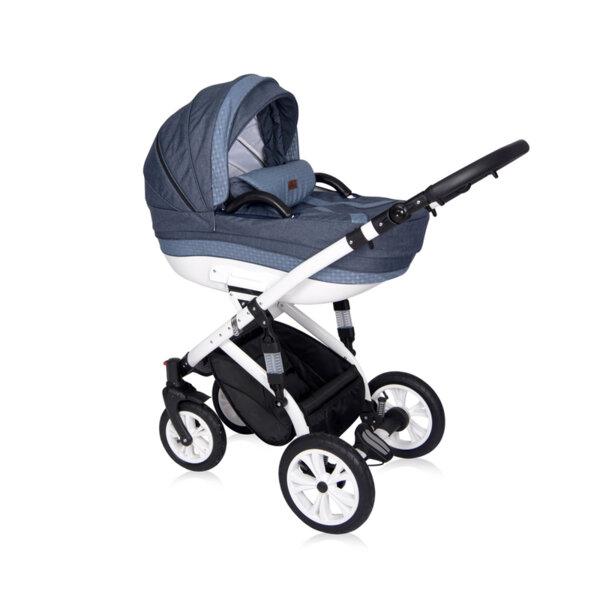 Lorelli Детска количка MIA LIGHT&DARK BLUE 10021011914