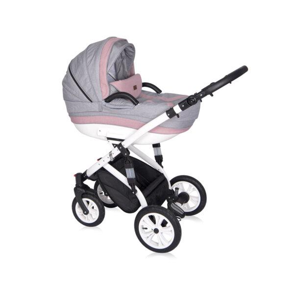 Lorelli Детска количка MIA PINK&GREY 3в1 10021011915