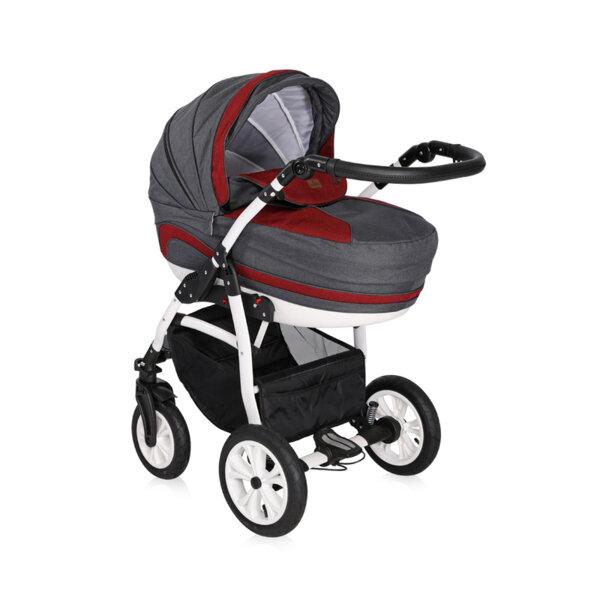 Lorelli Детска количка KARA RED&BLACK 3в1 10021041916