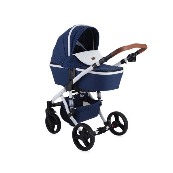 Lorelli детска количка RIMINI DARK BLUE FLOWERS 10021051959