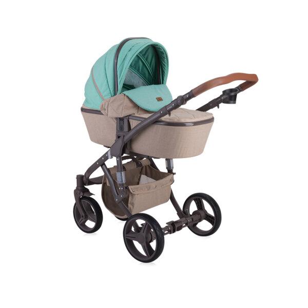 Lorelli Детска количка  RIMINI BEIGE&GREEN DOTS 10021051966