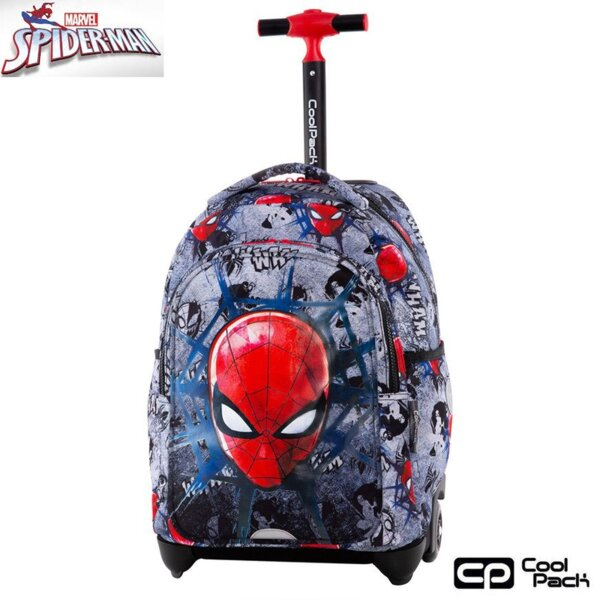 Cool Pack Jack Раница на колела Spiderman Black B53303